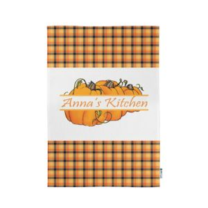 Personalized Monogrammed Pumpkin Kitchen Towel  11