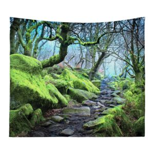 Personalized Photo Collage Forest  Microfiber Wall Tapestry - 80