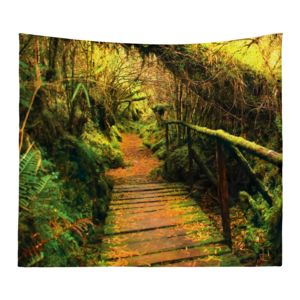 Personalized Photo Collage Forest Trail Microfiber Wall Tapestry - 60