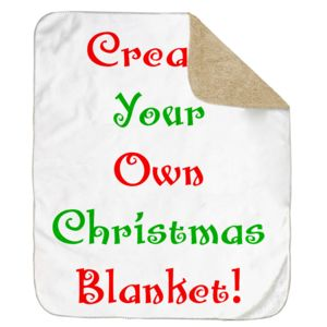 Personalized Christmas Photo Collage Ultra Plush Sherpa Blanket - 50