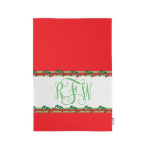 Personalized Monogrammed Cherry Kitchen Towel 11