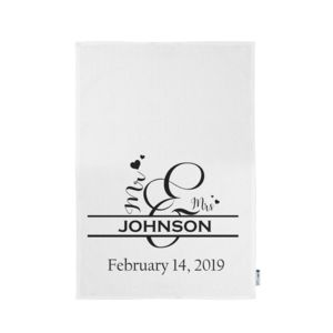 Personalized Mr & Mrs Monogrammed Kitchen Towel 11