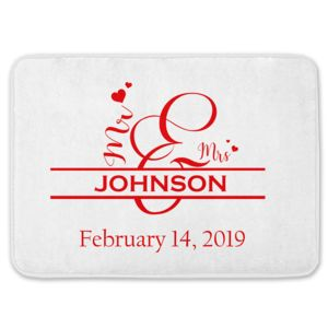 NEW!!! Personalized Monogrammed Mr. & Mrs. Kitchen Floor Mat with Name Thumbnail