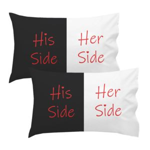 Personalized His Side Her Side Pillowcase Set Thumbnail